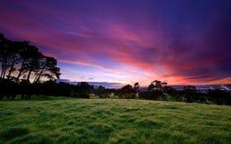 Soleil de couleur bonjour le plein Photos libres de droits