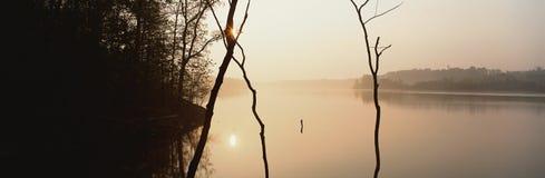 Soleil de fleuve Photos stock