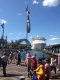 Soleil 2015 de pont de port de Sydney 1 Images libres de droits