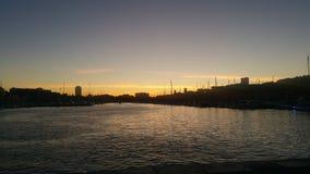 Soleil de port de Vieux photo libre de droits