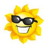 Soleil de sourire Image stock