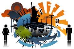 soleil de ville Image stock