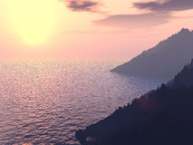 Soleil en mer Photo libre de droits