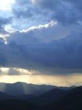 Soleil et tempête Images libres de droits