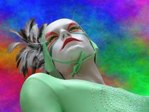soleil för cirquedu-dummy royaltyfri fotografi