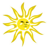 Soleil heureux Photos stock