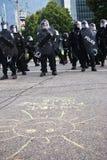 Soleil pour des protestations de sommet de la paix G8/G20 Image libre de droits