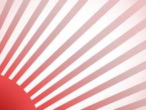 Soleil rouge Image libre de droits