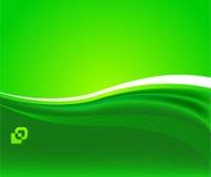Soleil vert - fond écologique Image stock
