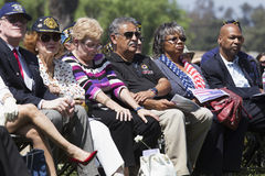 Solemn audience at Los Angeles National Cemetery Annual Memorial Event, May 26, 2014, California, USA Stock Photo