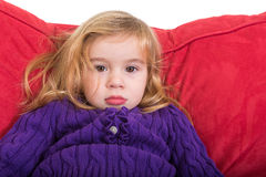 Solemn beautiful young girl Royalty Free Stock Photography