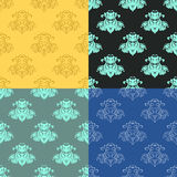 Solemn black blue seamless pattern. vector illustration Royalty Free Stock Photo