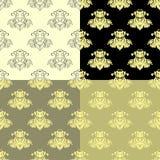 Solemn black brown seamless pattern. vector illustration Stock Images