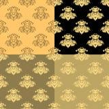 Solemn black yellow pattern seamless. vector illustration Stock Photography