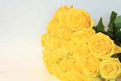 Solemn bouquet of flowers for beautiful ladies, bunch of roses Imagen de archivo