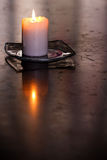 Solemn candle I Stock Photos