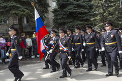Solemn procession of police of Pyatigorsk in the parade dedicate Stock Images