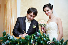 Solemn registration of marriage Royalty Free Stock Photography