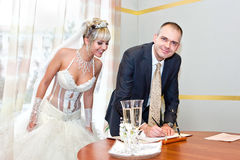 Solemn registration of marriage Stock Photo