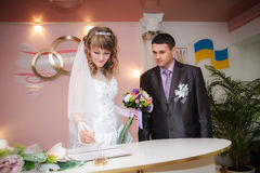 Solemn registration of marriage Royalty Free Stock Photos