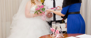 Solemn registration of marriage Stock Photos