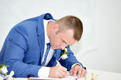 Solemn registration of newlyweds Royalty Free Stock Photography