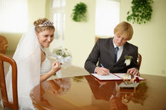 Solemn registration - wedding ceremony Stock Photography