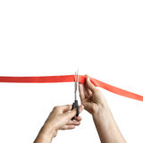 Solemn ribbon cutting Stock Photo
