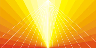 Solemn shining rays Royalty Free Stock Images