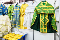 Solemn slavic orthodox priest`s vestments Stock Images