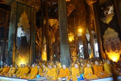 Solemn temple in Thailand royalty free stock photo