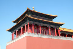 Solemn Tower, The Meridian Gate Wumen in the Forbidden City, Beijing. China Stock Photos