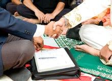 Solemnisation van een Moslimmens royalty-vrije stock foto