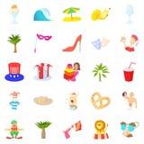 Solemnization icons set, cartoon style. Solemnization icons set. Cartoon set of 25 solemnization vector icons for web isolated on white background Stock Images