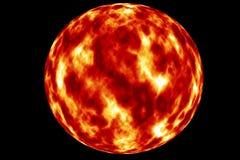 Solen den röda jätten royaltyfri illustrationer