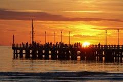 Solen i solnedgången Arkivfoto