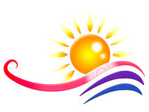 Solen Rays virvlande runt solstrålar och strålglans för hjälpmedel Royaltyfri Bild