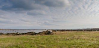 Solenergicollctors Arkivbild
