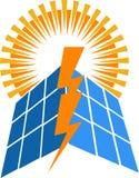 Solenergilogo vektor illustrationer
