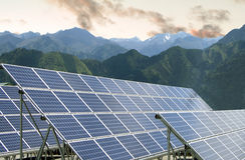 Solenergipaneler royaltyfri foto