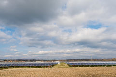 Solenergisamlare Arkivbilder