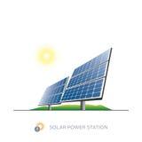 Solenergistation Arkivfoto