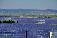 Solenergistation - photovoltaics Arkivfoton