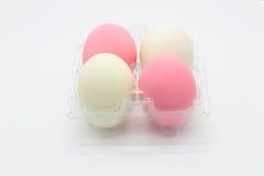 Soleni jajka z bielu i menchii colour Zdjęcie Royalty Free