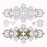 Solenny czarny i biały wzoru set również zwrócić corel ilustracji wektora Zdjęcia Royalty Free