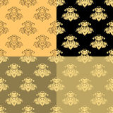Solenny czarny koloru żółtego wzór bezszwowy również zwrócić corel ilustracji wektora Fotografia Stock