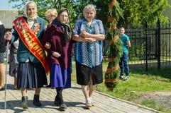 Solenny spotkanie na cześć zwycięstwo dzień w wojnie światowa 2 może 9, 2016 w Kaluga regionie w Rosja Zdjęcia Royalty Free
