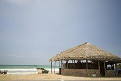 solenoid för ruta för stranddelecuador restauranger fotografering för bildbyråer