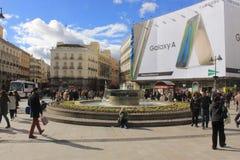 solenoid spain för delmadrid plaza Annonsering för smartphone för Samsung galax A Royaltyfria Foton