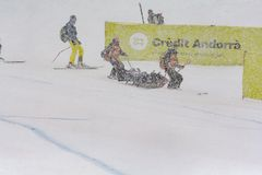 Solenoide 2016 alpino super do en do EL 28 de febrero de de Audi FIS Ski World Cup Women do combinado do EL do durante do compite imagem de stock